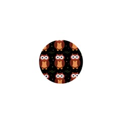Halloween brown owls  1  Mini Magnets