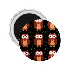 Halloween Brown Owls  2 25  Magnets