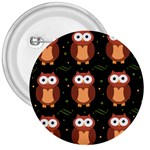 Halloween brown owls  3  Buttons Front