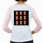 Halloween brown owls  Girly Raglans Back