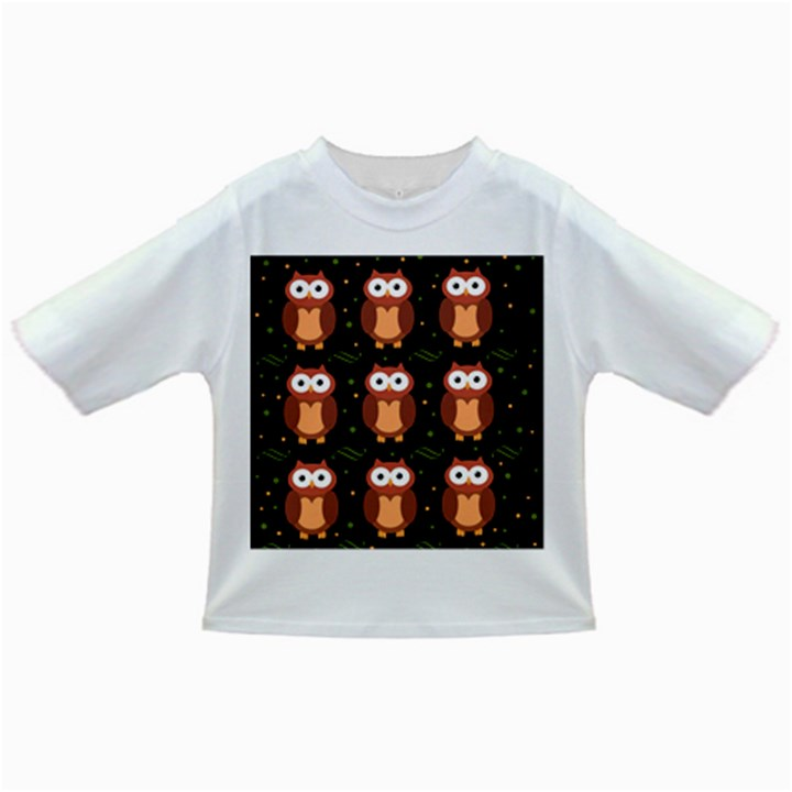 Halloween brown owls  Infant/Toddler T-Shirts