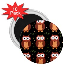 Halloween Brown Owls  2 25  Magnets (10 Pack)