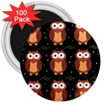 Halloween brown owls  3  Magnets (100 pack) Front