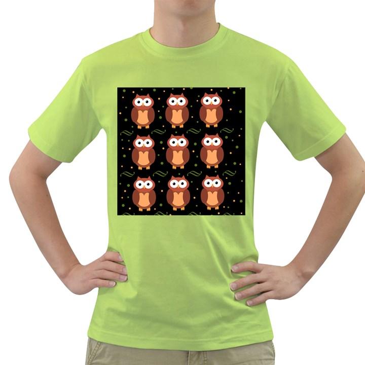 Halloween brown owls  Green T-Shirt