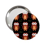 Halloween brown owls  2.25  Handbag Mirrors Front