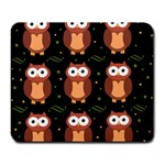 Halloween brown owls  Large Mousepads Front