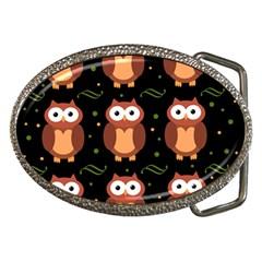 Halloween Brown Owls  Belt Buckles