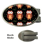 Halloween brown owls  Money Clips (Oval)  Front