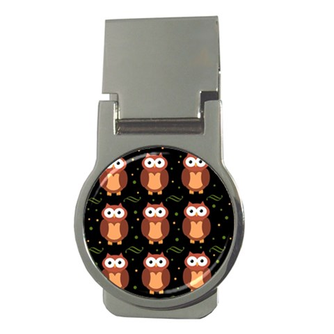 Halloween brown owls  Money Clips (Round)