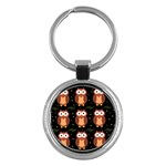 Halloween brown owls  Key Chains (Round)  Front