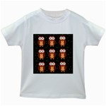 Halloween brown owls  Kids White T-Shirts Front