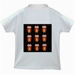 Halloween brown owls  Kids White T-Shirts Back