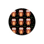 Halloween brown owls  Magnet 3  (Round) Front