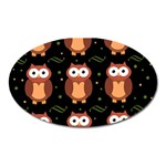 Halloween brown owls  Oval Magnet Front