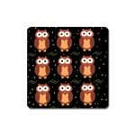 Halloween brown owls  Square Magnet Front