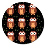 Halloween brown owls  Magnet 5  (Round) Front