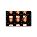 Halloween brown owls  Magnet (Name Card) Front