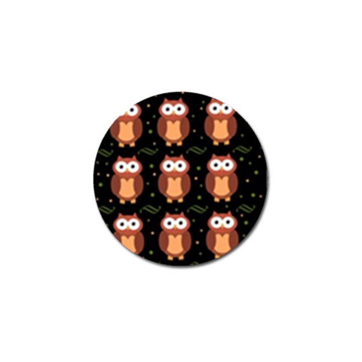 Halloween brown owls  Golf Ball Marker