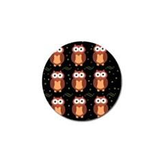 Halloween brown owls  Golf Ball Marker (4 pack)
