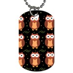 Halloween brown owls  Dog Tag (Two Sides) Back