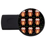 Halloween brown owls  USB Flash Drive Round (1 GB)  Front