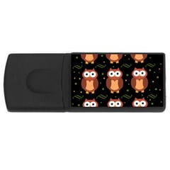Halloween brown owls  USB Flash Drive Rectangular (2 GB)