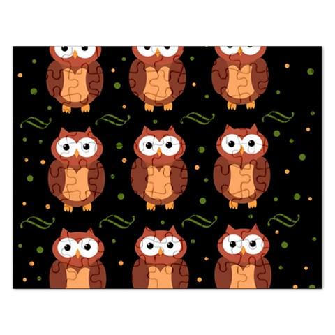 Halloween brown owls  Rectangular Jigsaw Puzzl