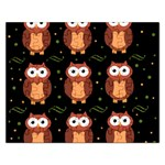 Halloween brown owls  Rectangular Jigsaw Puzzl Front