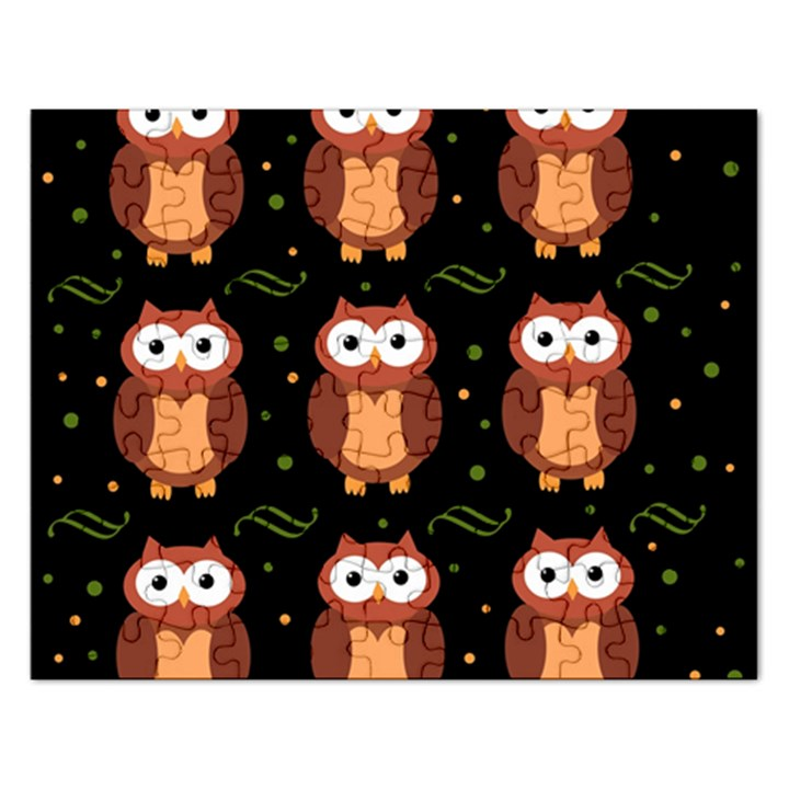 Halloween brown owls  Rectangular Jigsaw Puzzl