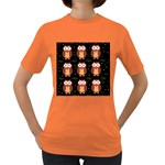 Halloween brown owls  Women s Dark T-Shirt Front