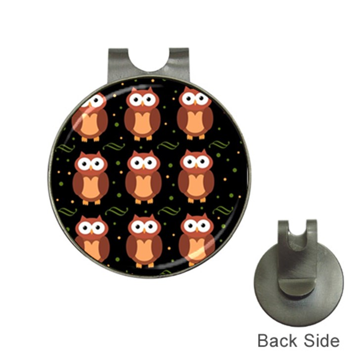 Halloween brown owls  Hat Clips with Golf Markers
