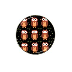 Halloween Brown Owls  Hat Clip Ball Marker
