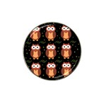 Halloween brown owls  Hat Clip Ball Marker (4 pack) Front