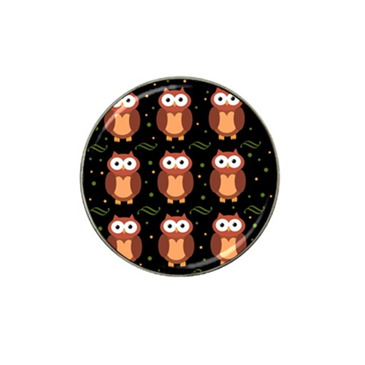 Halloween brown owls  Hat Clip Ball Marker (10 pack)
