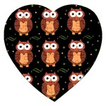 Halloween brown owls  Jigsaw Puzzle (Heart) Front