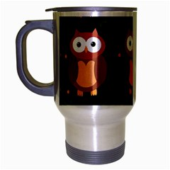 Halloween brown owls  Travel Mug (Silver Gray)