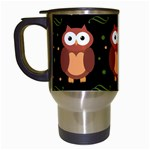 Halloween brown owls  Travel Mugs (White) Left