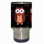 Halloween brown owls  Travel Mugs (White) Center