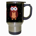 Halloween brown owls  Travel Mugs (White) Right