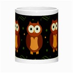 Halloween brown owls  Night Luminous Mugs Center