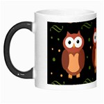 Halloween brown owls  Morph Mugs Left