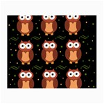 Halloween brown owls  Small Glasses Cloth Front