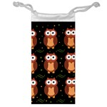 Halloween brown owls  Jewelry Bags Front