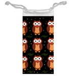 Halloween brown owls  Jewelry Bags Back