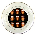 Halloween brown owls  Porcelain Plates Front