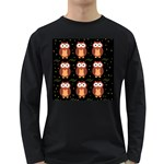 Halloween brown owls  Long Sleeve Dark T-Shirts Front