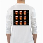 Halloween brown owls  White Long Sleeve T-Shirts Back