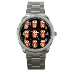 Halloween Brown Owls  Sport Metal Watch