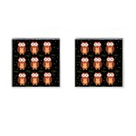 Halloween brown owls  Cufflinks (Square) Front