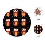 Halloween brown owls  Playing Cards (Round)  Front